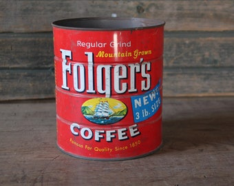 Folger's Coffee can, 3 lbs.
