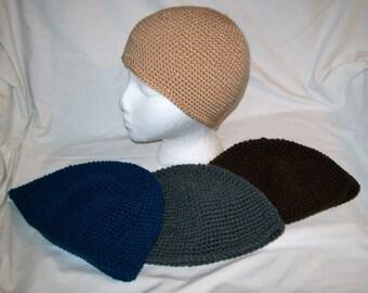 Crochet Mens Skull Cap