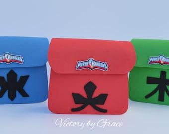 Power Rangers Favor Bags, Rangers Favor, Power Rangers Goodie Bags