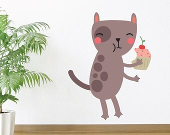 Hungry Cat Wall Decal
