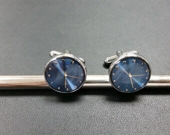 Non Working Clock Cufflinks-k63  - Free Gift Box