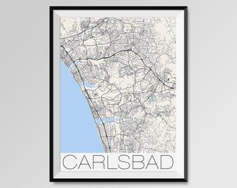 CARLSBAD California Map, Carlsbad City Map Print, Carlsbad Map Poster, Carlsbad Map Art, Carlsbad gift, Personalized maps, California map