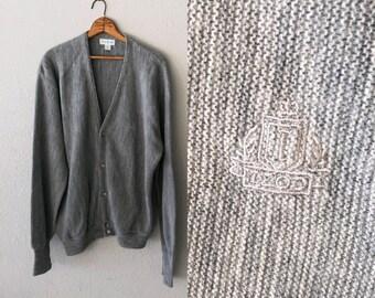 1980's IZOD Vintage Mr. Rogers Grey Cardigan