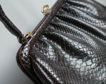 Mid Century Modern Crocodile Handbag - Vintage