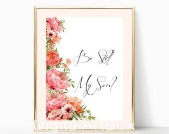 Pink rose poster Floral print Flower print Watercolor decor ACW308 ...