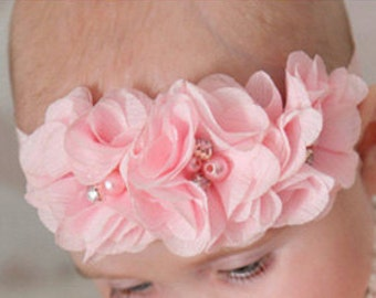 Baby Head Band, Baby Hair Bow, Toddler Headband, Little Girl Headband, Infant Headband, Baby Girl Gift.