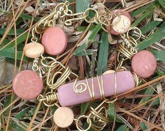 Vintage bracelet. Handmade. Craft.