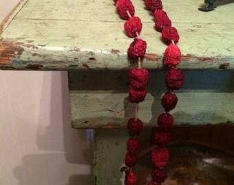 Handmade Primitive Dried Cranberry Garland