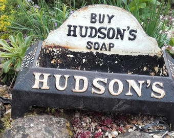 Antique Hudsons Soap Drink Pupply Drink Bow.