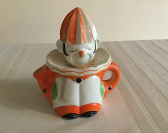 Vintage Hand Painted Clown Juicer-Reamer  circa 1930's