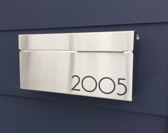 Modern and contemporary mailbox - stainless steel design, Modern Mailbox, Wall Mounted mailbox - contemporary #147S