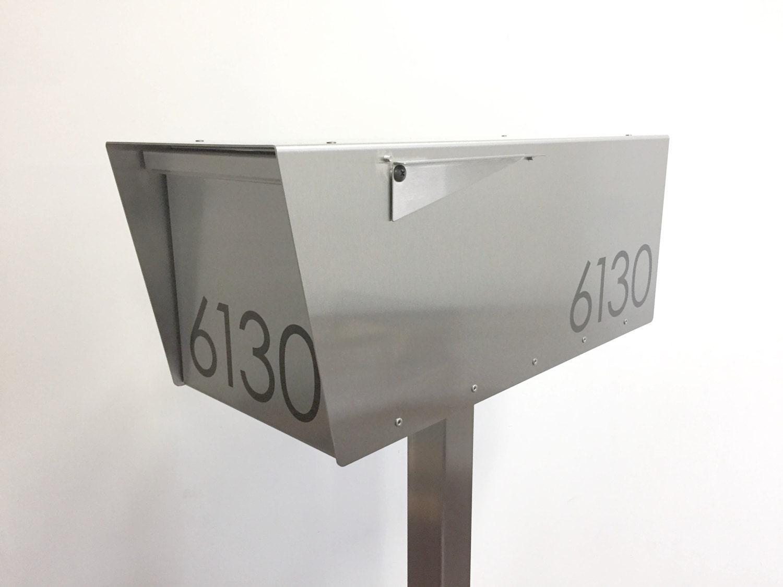 the minimalist modern mailbox stainless steel design large. Black Bedroom Furniture Sets. Home Design Ideas