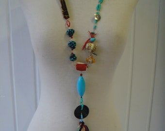 fun and original necklace long BOHO