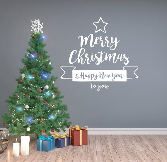 Christmas decal christmas decorations christmas wall for 180 degrees christmas decoration
