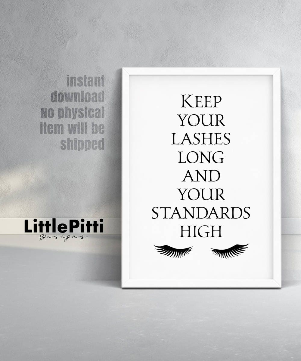 Girly Bathroom Decor Lashes Decor Girly Print Girly Room Decor Eyelashes Print