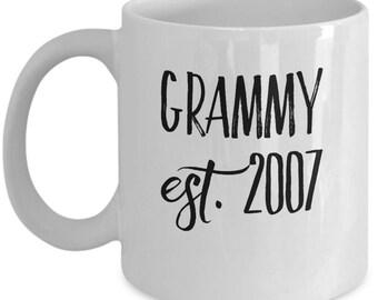 Personalized Grammy Mug - Celebrate the Year She Became an Grammy - 11 oz Gift Mug