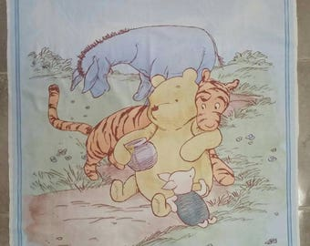 Blue Winnie the Pooh DIY quilt kit, Winnie the Pooh quilting kit, Sew your own quilt kit