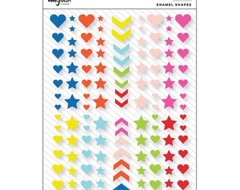 Pinkfresh Studio THE MIX NO. 1 Collection Colorful Scrapbooking Enamel Shapes