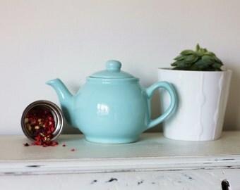 Infuser Teapot Gift Set, Pastel Blue - Herbal Loose Leaf Tea teabelly Organic Artisan Tisane Infusion