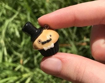 Kawaii Gentleman Cupcake Charm