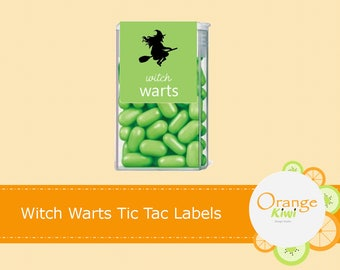 Witches Warts Tic Tac Labels, Halloween Tic Tac Labels, Happy Halloween Tic Tac Labels, Witch Stickers