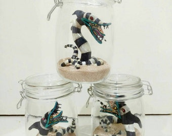 Beetlejuice Sandworm Pets in a Jar