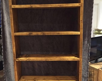 Large bookcase shelving unit display reclaimed