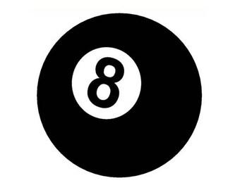 8 Ball Sticker Vinyl Decal eight pool table billiards darts  8ball 214