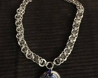 Helm Chainmaille Necklace
