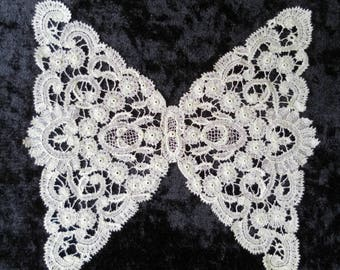 French Lace butterfly exquisite handmade vintage