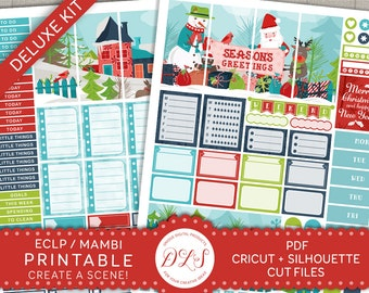 Christmas Planner Stickers, Printable Christmas Stickers, Erin Condren Stickers, Mambi Happy Planner Stickers, Winter Stickers, ECF101