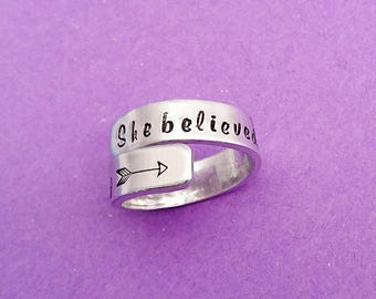 she believed she could so she did - ring