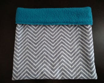 Grey Chevron Snuggle Sack for Hedgehogs and Other Small Animals