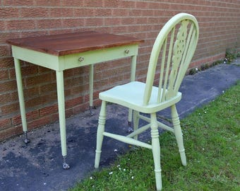 Lovely Vintage Rustic Writing Table/Desk with Chair