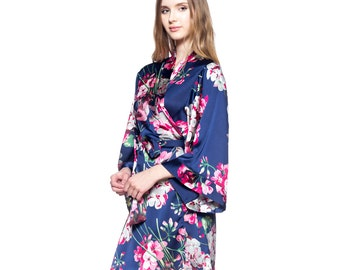 Bridesmaid Floral Robes for getting ready / Bridal Kimono Robes / Wedding Robes / Bridal Party Gifts / Bridal Shower Gifts / Gift for her
