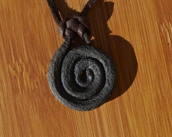 Hand Forged Iron Pendant