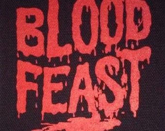 Blood Feast PATCH - canvas HORROR Gore, Herschell Gordon H.G. Lewis - cult, punk