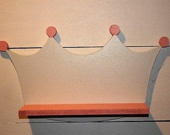 Princess Shelf, Crown Shelf, Girls Room Shelving, Kids Room Shelf, Girls Room Wall Hanging, Nursery Shelf