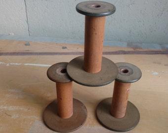 Vintage Industrial Textile Spools