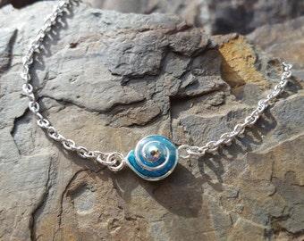 Sky Swirl Minimalist Bracelet / one of a kind / gift idea
