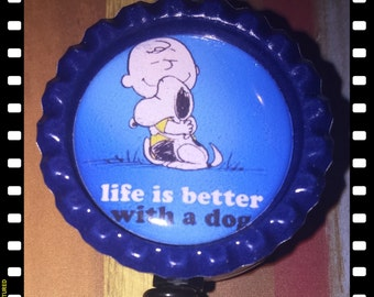 Retractable Life Is Better with A Dog Badge Holder Pull Reel Lanyard Nurse