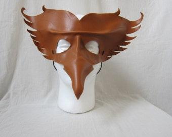 Leather mask phoenix / fire bird