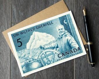Newfoundland Canada, Wilfred Grenfell, Newfoundland gift ideas, Newfoundland birthday cards, Newfoundland history, Canadian history cards