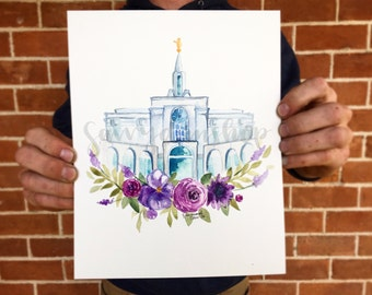 LDS Bountiful Utah Temple Print