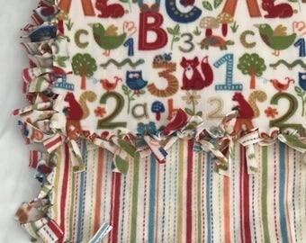 Baby blanket, Baby fleece blanket, Fleece blanket, Photo prop blanket, Alphabet blanket, Striped blanket