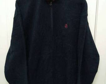 Rare Vintage NAUTICA Fleece Jacket Size XL Extra Large