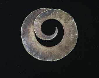 Fold Formed Spiral Brooch