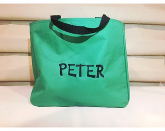 Personalized Tote Bag, Boys Tote Bag, Personalized Kid Gift, Tote Bag, Monogrammed Tote, Diaper Bag