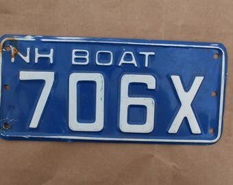 Vintage 1978 New Hampshire Boat License Plate
