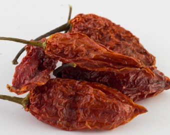 Ghost Pepper Dried Whole Pepper Pods World's Hottest w/Seeds